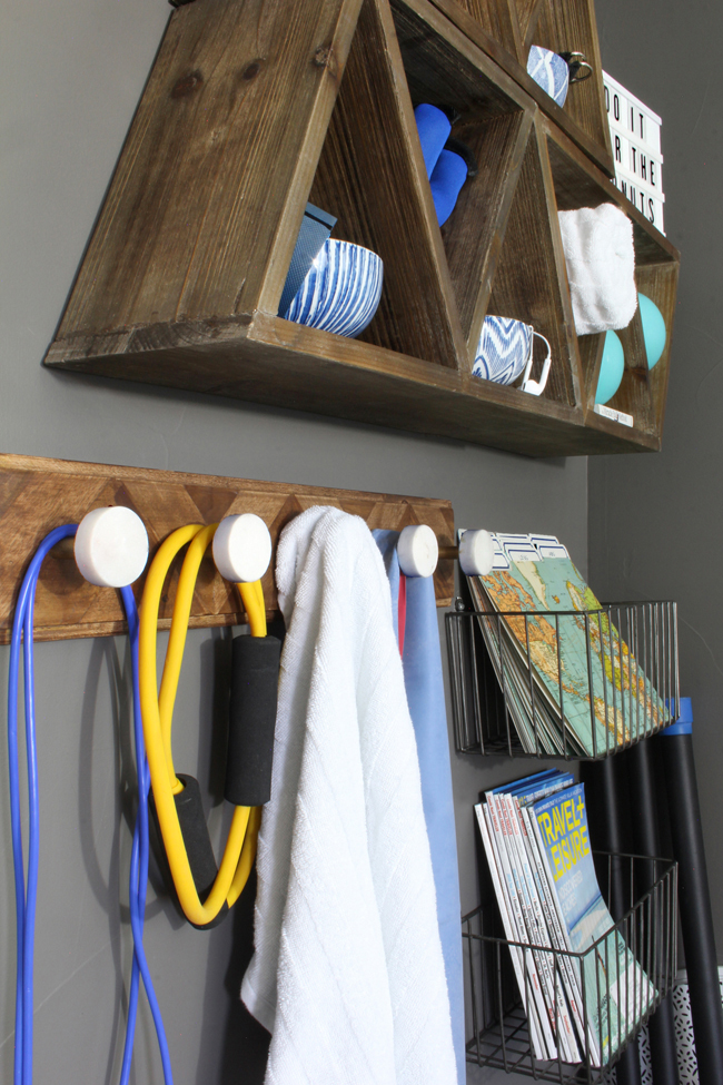 Home Gym Ideas Small Space Part - 38: Home Gym Wall Organizer