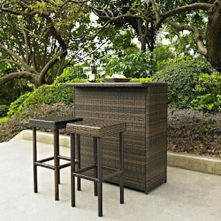 Crosley Outdoor Bar Set