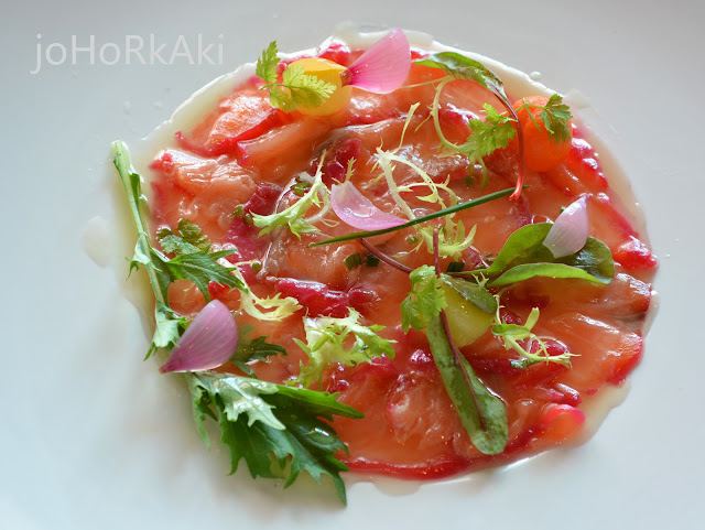 """Cured-Beet-Root-Salmon-Trout-""""W""""-Espresso-Sporting-Club"""
