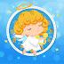 Angel with Harp Christmas Clock Screensaver