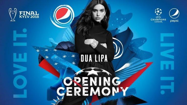 La cerimonia di apertura della Finale Champions League con Pepsi e Dua Lipa