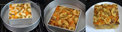 Bread Pudding with dry fruits