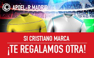 sportium promocion champions Apoel vs Real Madrid 21 noviembre