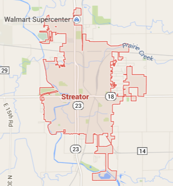 Streator Illinois Map.Towns And Nature Streator Il Railroad Hub