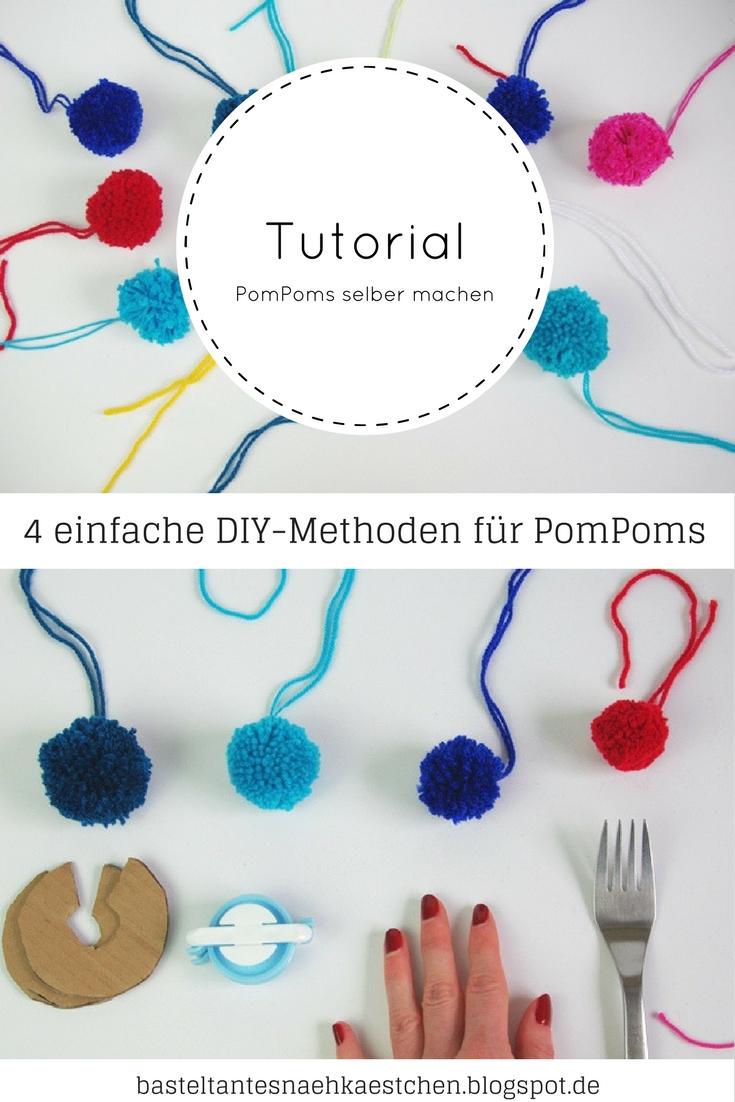 4 einfach DIY Merthden für Pompoms selber machen von Basteltantes Nähkästchen ♥ Ein Nähblog
