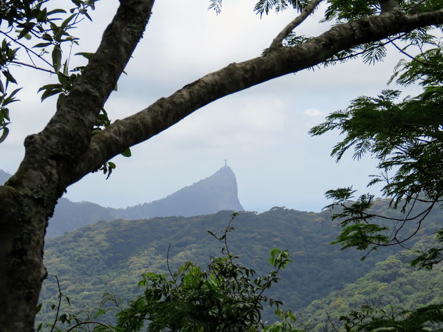 View of Christ the Redeemer from Tijuca National Forest in Rio de Janeiro