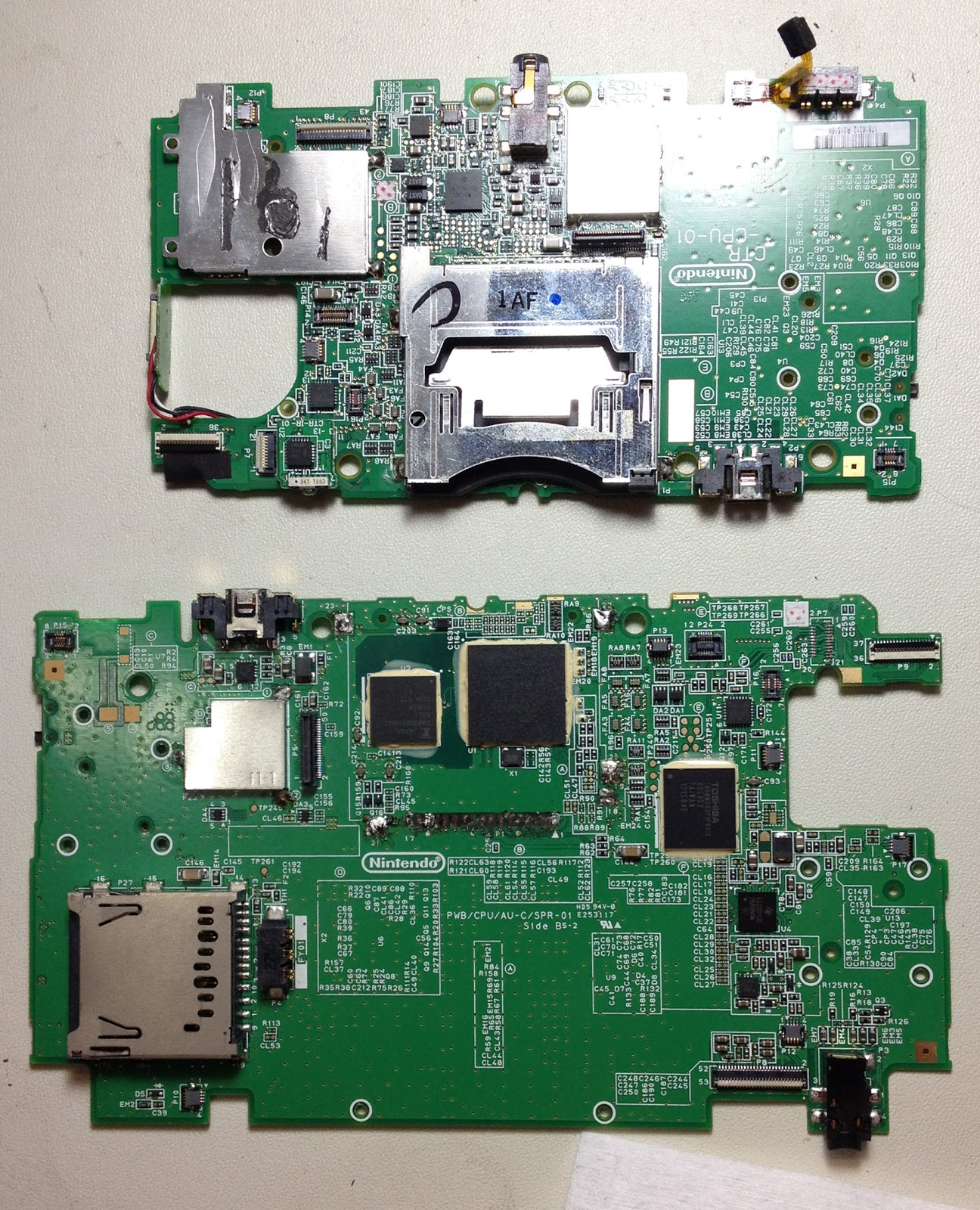 I picked up a busted 3DS board off eBay for ~$5, but then had an additional 3DS  XL board graciously donated to the cause. Kudos to the IRC guy(s) that made  ...