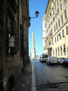 The Via Sistina in Rome looking towards Piazza Trinità dei Monti