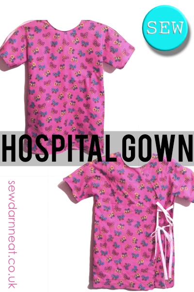 Sew Hospital Gown Sew Darn Neat Sewing Blog Adorable Hospital Gown Pattern
