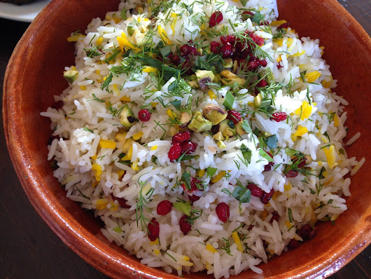 Saffron Rice with Barberries, Pistachios & Herbs