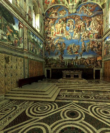 Osvaldo Contenti Art La Cappella Sistina in 3D