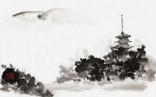 Arte japones con tinta china