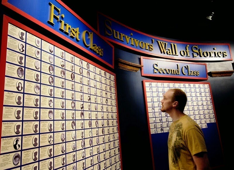 The Survivors' Wall of Stories. - The Titanic Museum in Branson