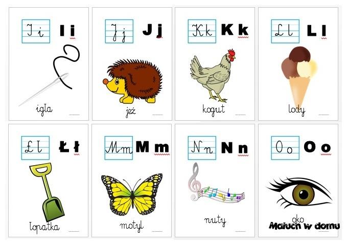 Tablice Z Literami Do Nauki Czytania Do Pobrania Maluch W Domu