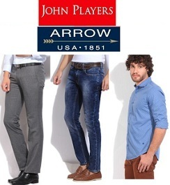 Minimum 50% Discount on Arrow, John Player, Wrangler, LEE, UCB & more Men's Clothing @ Flipkart