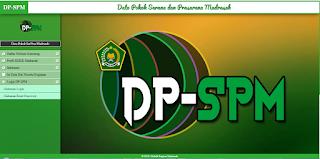http://dpspm.subditkskk.website/ Alamat Aplikasi DP-SPM Madrasah
