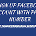 Sign Up Facebook Account With Phone Number