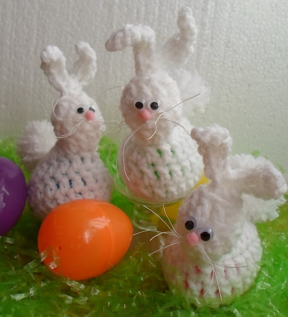 Crochet Egg Holder : Crochet Bunny Egg Holder-picture tutorial and free pattern