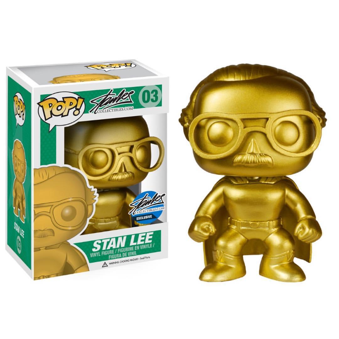 The Blot Says   : NYCC Exclusive Gold Superhero Stan Lee Pop