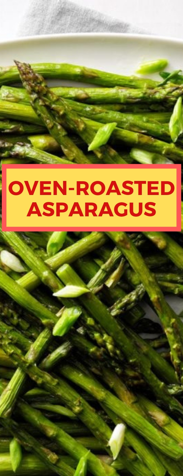 Oven-Roasted Asparagus #ASPARAGUS #VEGETARIAN #LUNCH