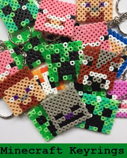 How to make Hama Minecraft keyrings