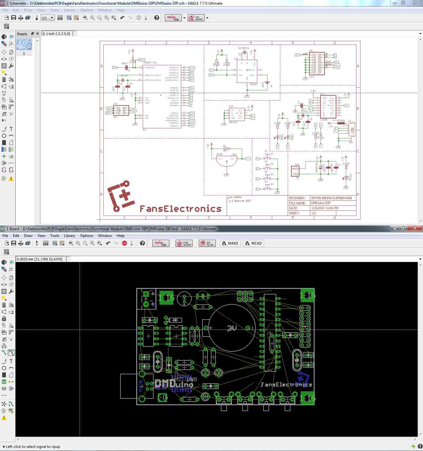 skematik dan layout pcb