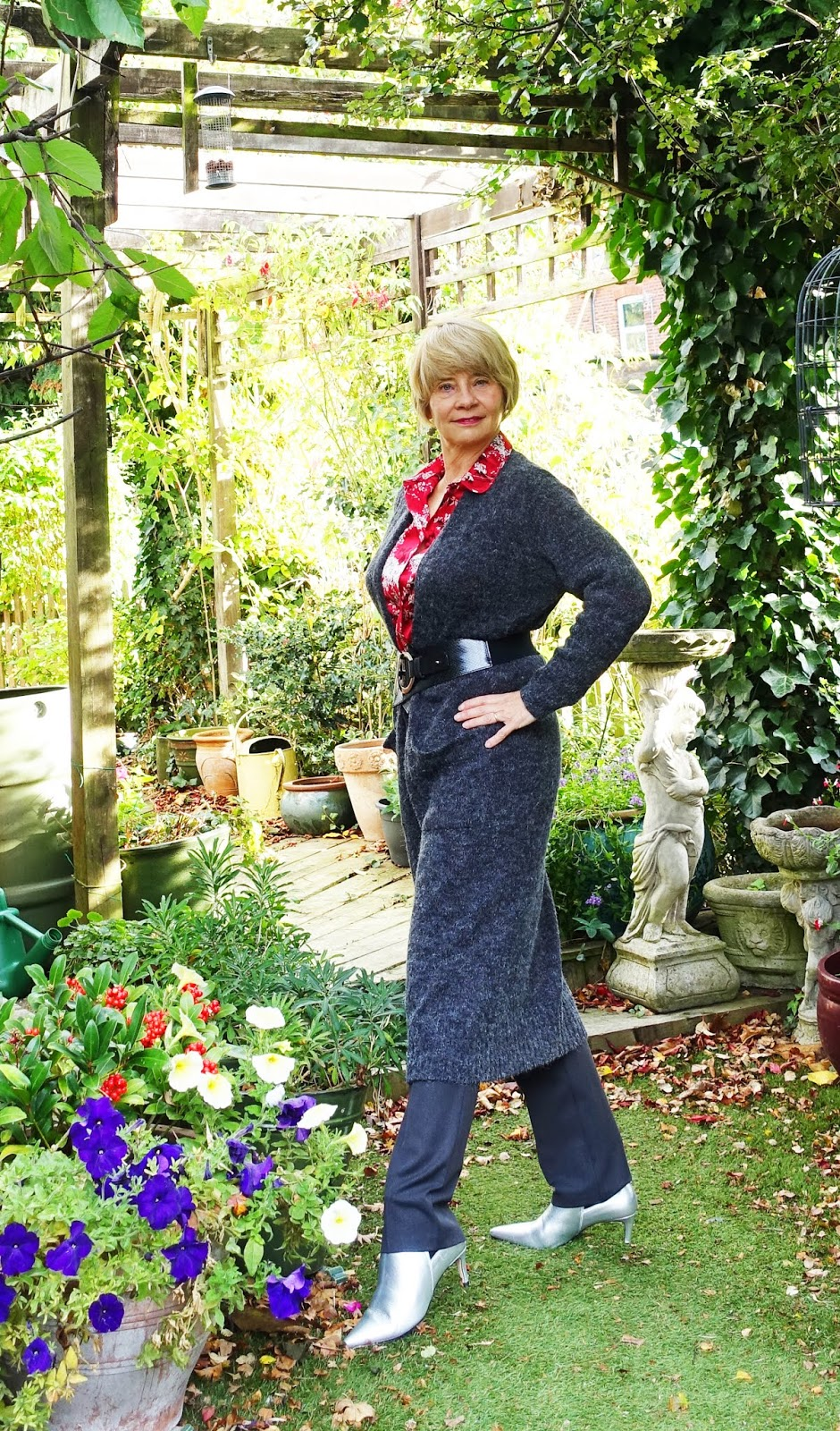 Over 45s blog Is This Mutton? with one of three looks for a red and white floral blouse