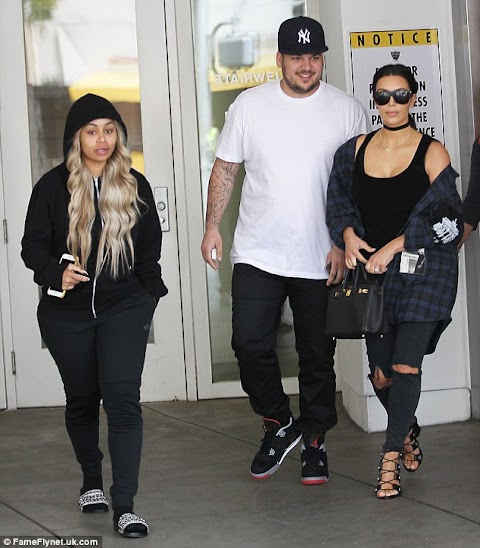 Kim Kardashian shows her support for Rob and Blac Chyna as she joins couple for brunch