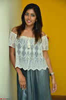 Eesha in a cute deep neck top and Skirt at at Big FM 004.JPG