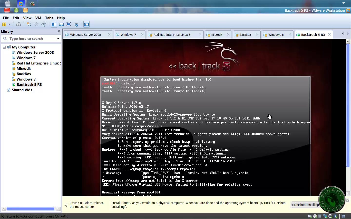 How to Install Backtrack In Vmware - binary hackers