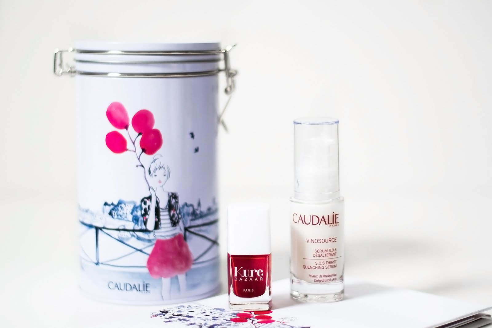 Caudalie x Kure bazaar, vinosource, sos serum, dehydratation, nailpolish, madame k, limited edition