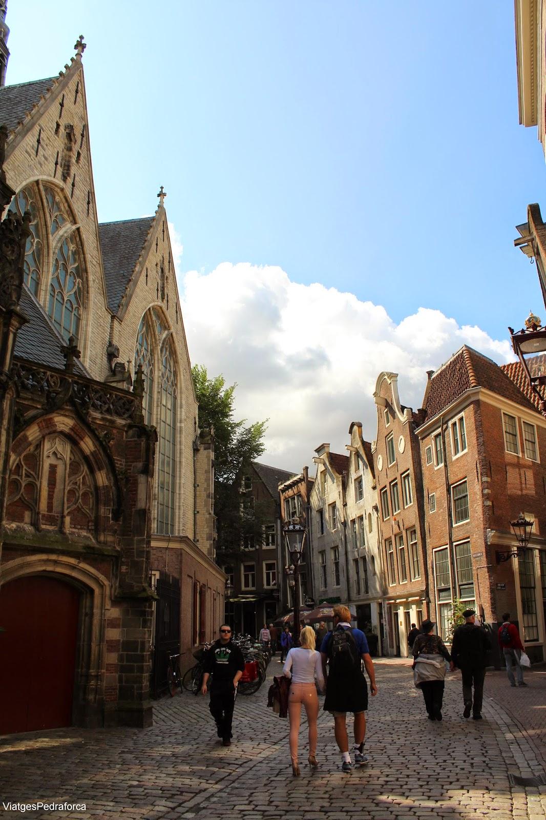 Oude Kerk, Amsterdam Barri Vermell Red Light District Holanda Països Baixos