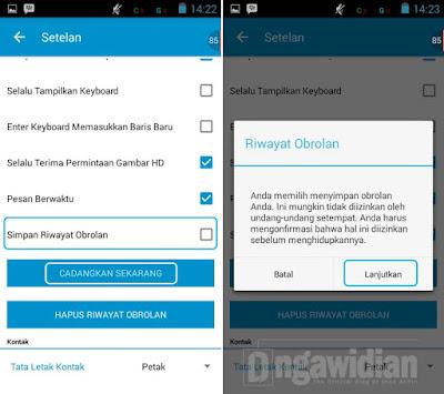 Cara Backup Obrolan BBM Android
