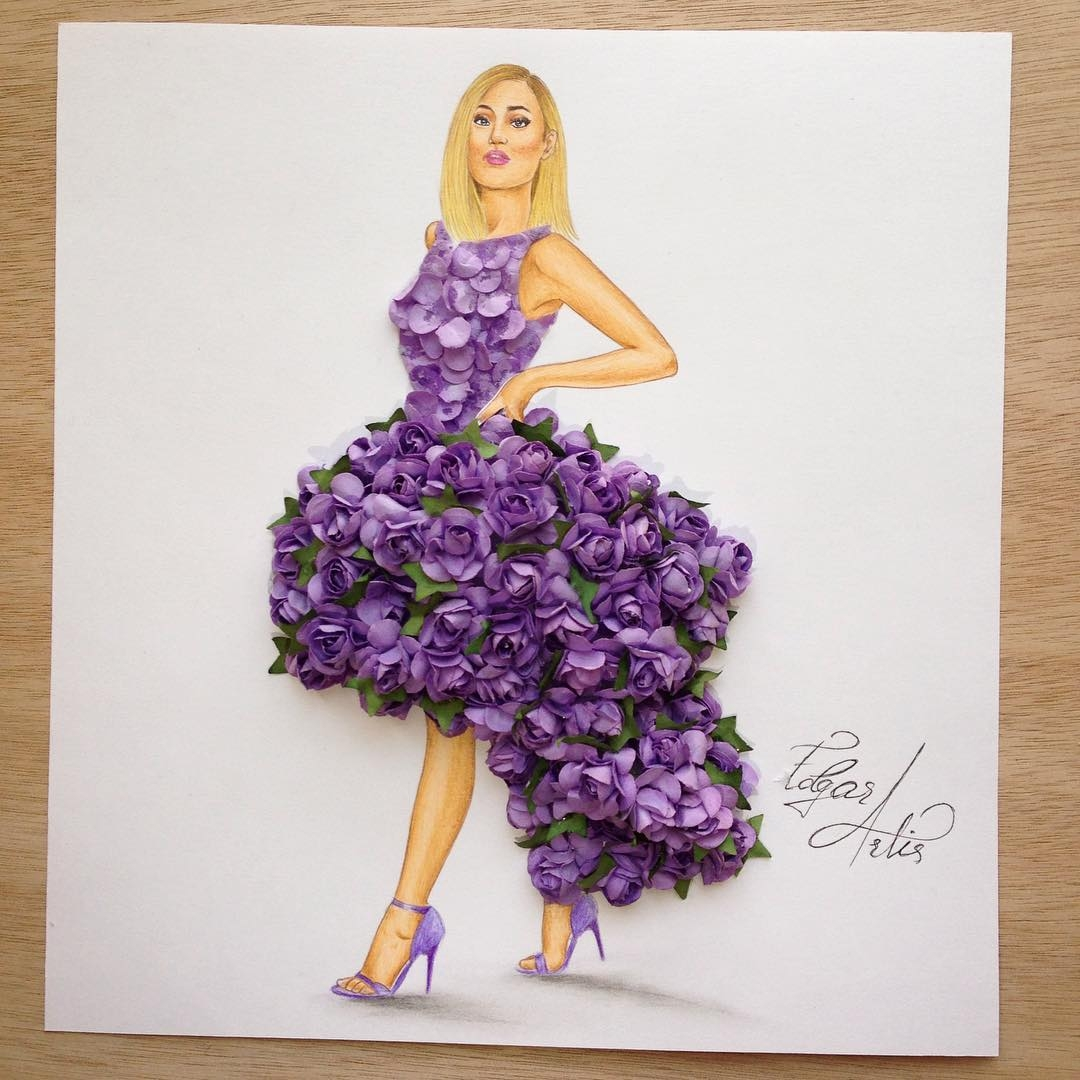 10-Lilac-Edgar-Artis-Drawings-that-use-Flowers-Food-and-Objects-www-designstack-co