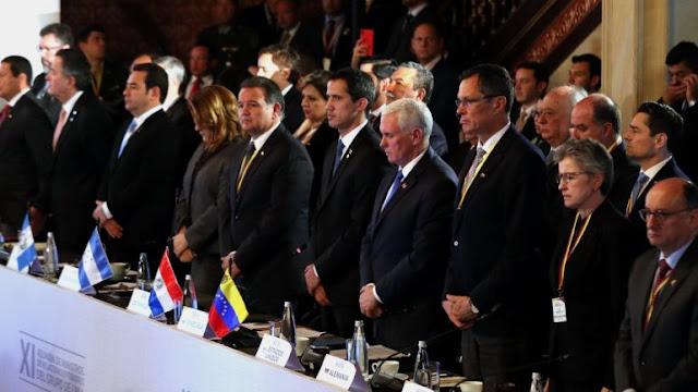AMÉRICA: Cancilleres del Grupo de Lima se reunirán este lunes en Santiago de Chile.