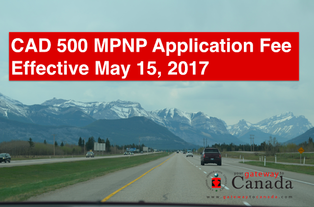 May 2017 EOI Draw | MPNP Application Fee Effective May 15, 2017