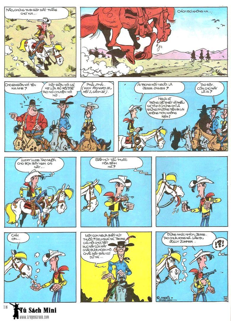 Lucky Luke tap 16 - jesse james hiep si rung xanh trang 20