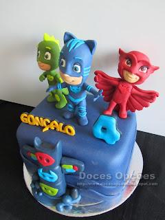 sugar paste PJ Masks birthday cake