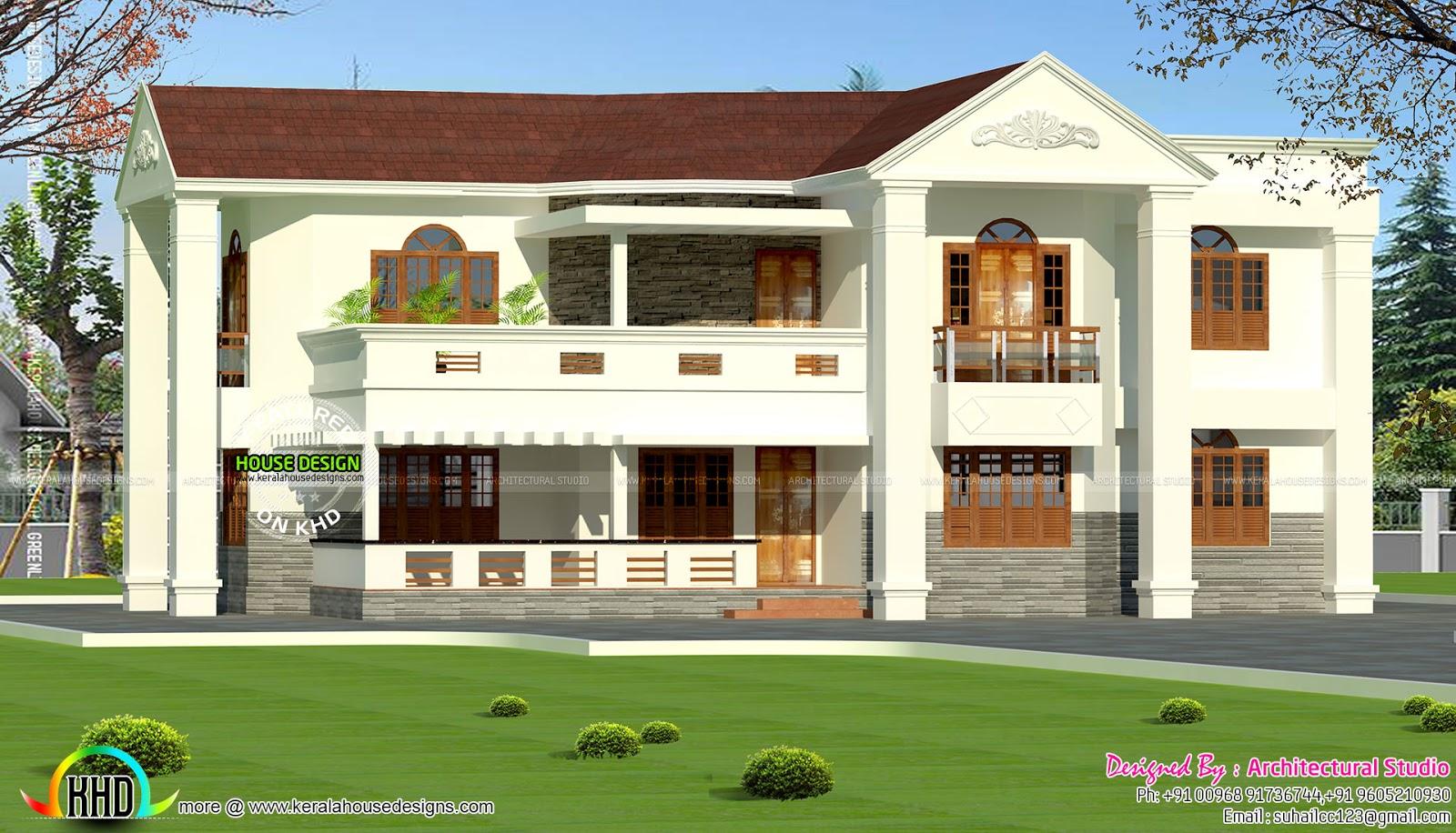 colonial mix 4 bedroom 2600 sq ft home kerala home design