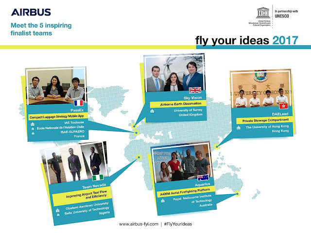Airbus Fly Your Ideas 2017 Student Competition Finalists
