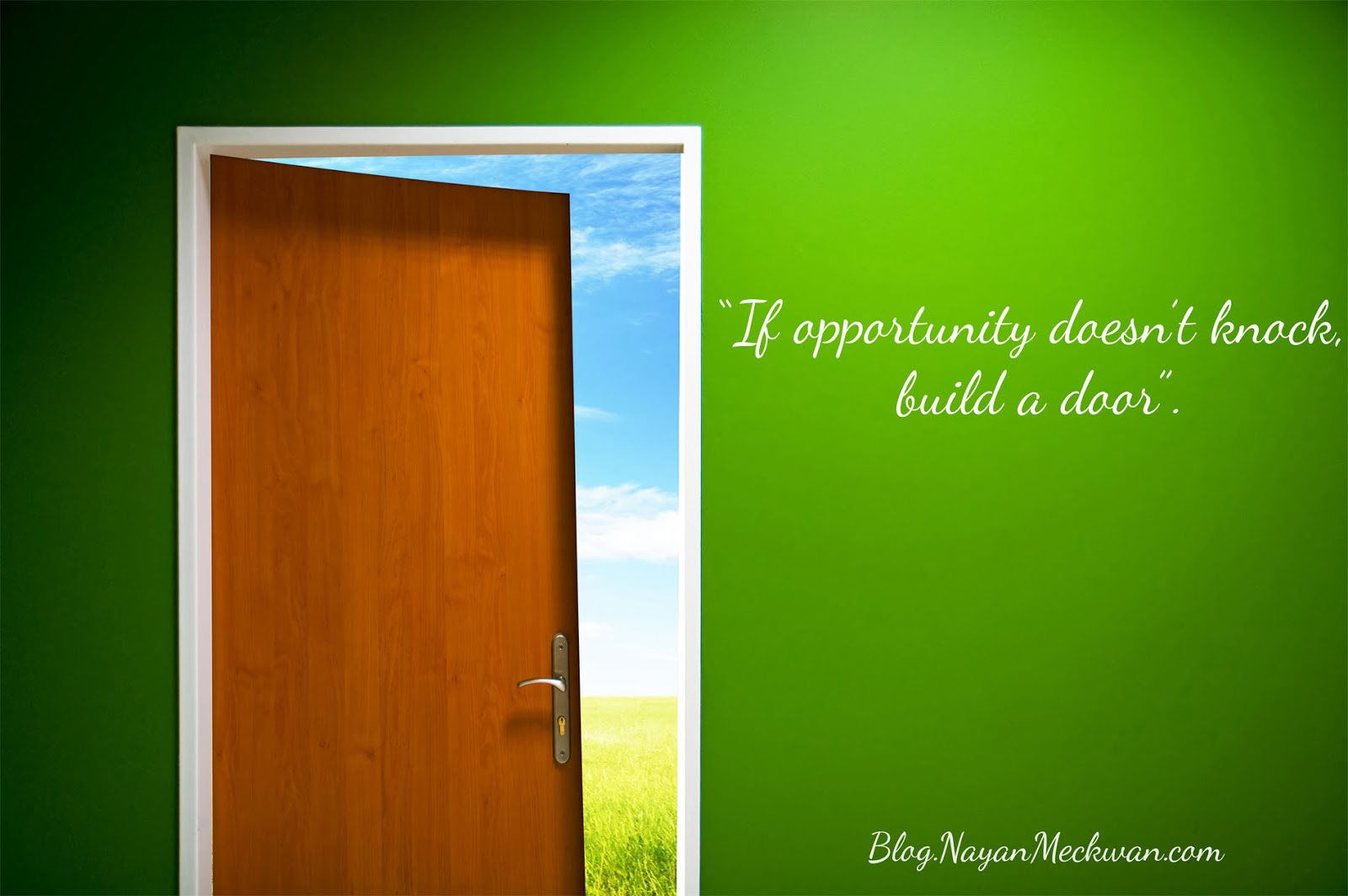 Build a Door Picture Quote 2014