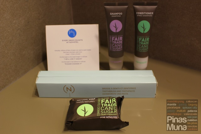 Novotel Manila Araneta Center eco-friendly toiletries
