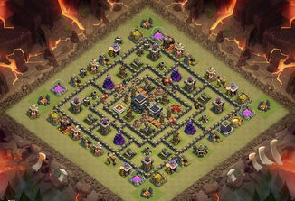 Base Coc Th 9 Pangkalan Perang 4