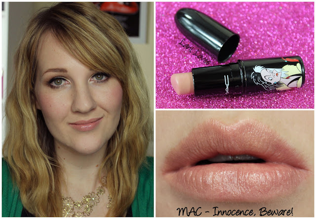 MAC Innocence, Beware! lipstick swatch
