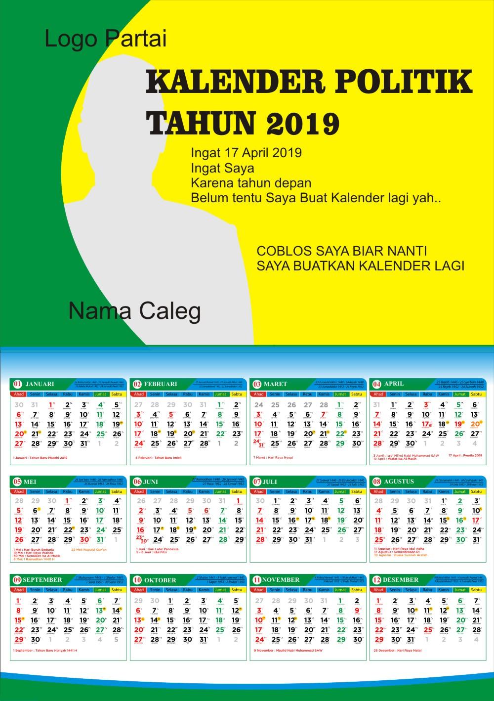 Download Template Kalender Caleg Cdr Karyaku