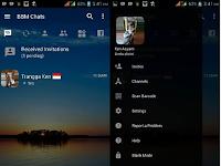 BBM Mod Transparan Apk v3.2.0.6 Tema Senja Terbaru By Trangga Ken