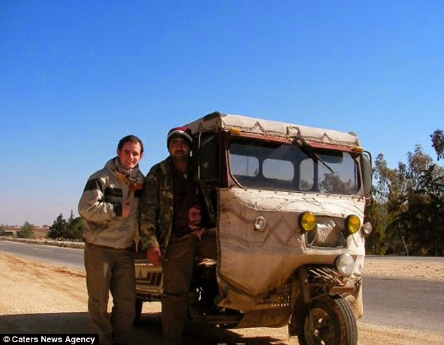 Mr Marie in Syria. He said hitchhiking was a good way to meet people and you get to see the world from a local's point of view. - A Big Thumbs Up. Traveller Hitchhikes 100,000 Miles Around The World Without Spending Any Money