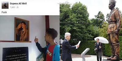 Negara Jepang saja menghormati Jenderal Soedirman, tapi anak ABG ini seenaknya mengacungkan jari tengah