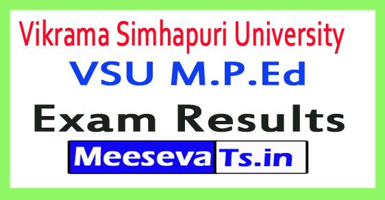 Vikrama Simhapuri University VSU M.P.Ed Exam Results 2017