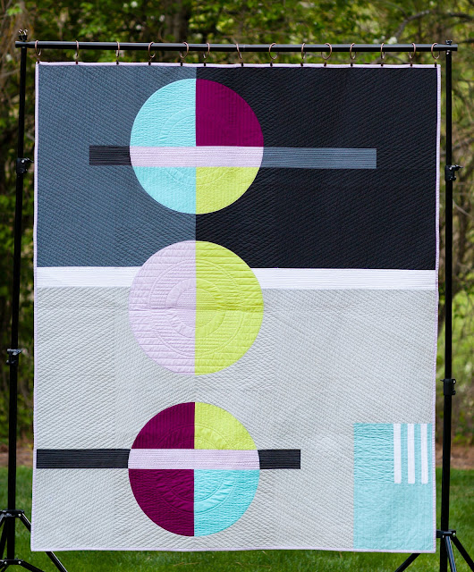 Inspiration blog post series - Modern Stepping Stones quilt made by Heather Black - Quilt-achusetts